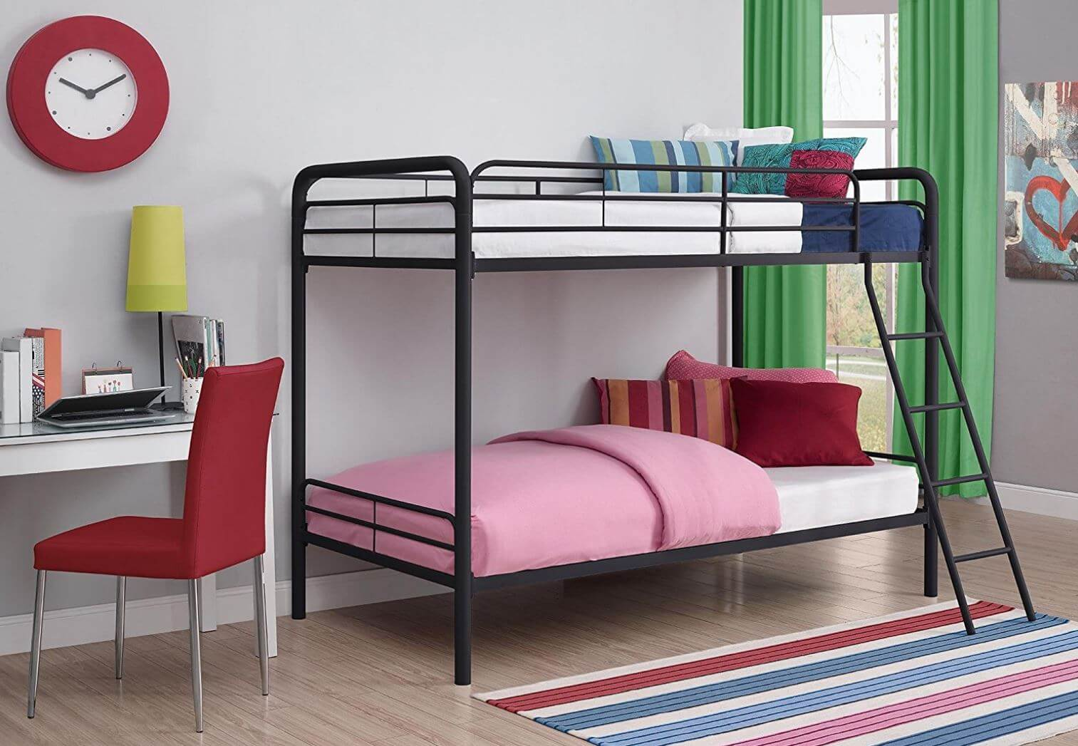 DHP Twin Over Metal Bunk Bed Black REVIEW