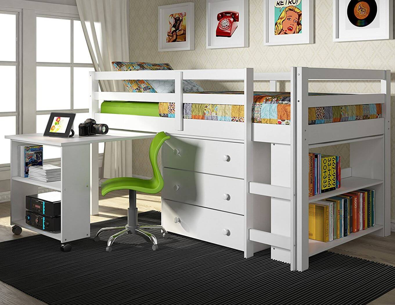 hgtv bunk kids bedrooms desk underneath with loft beds to rooms bed build a how design