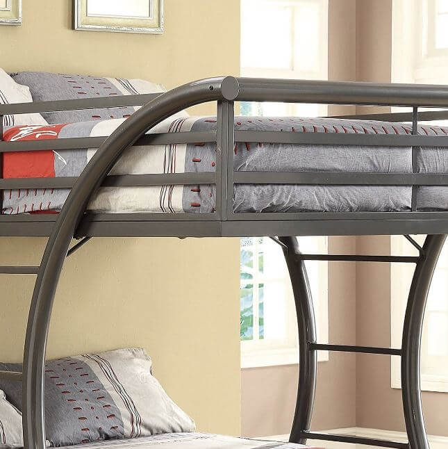 Review Coaster Home Furnishings 460078 Bunk Bed Gunmetal Bunk