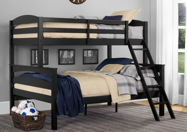 Dorel Living Brady Twin Over Full Solid Wood Kid S Bunk Bed With