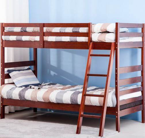Introduction - Merax Twin Over Twin Bunk Bed, Solid Wood