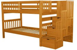 Bedz King Stairway Bunk Beds Twin over Twin Introduction
