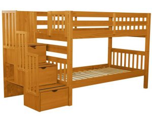 Bedz King Stairway Bunk Beds Twin over Twin Introduction1