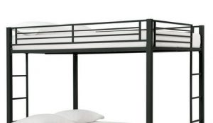 DHP Full Over Full Metal Bunk Bed, Sturdy Frame with Metal Slats, Silver Introduction