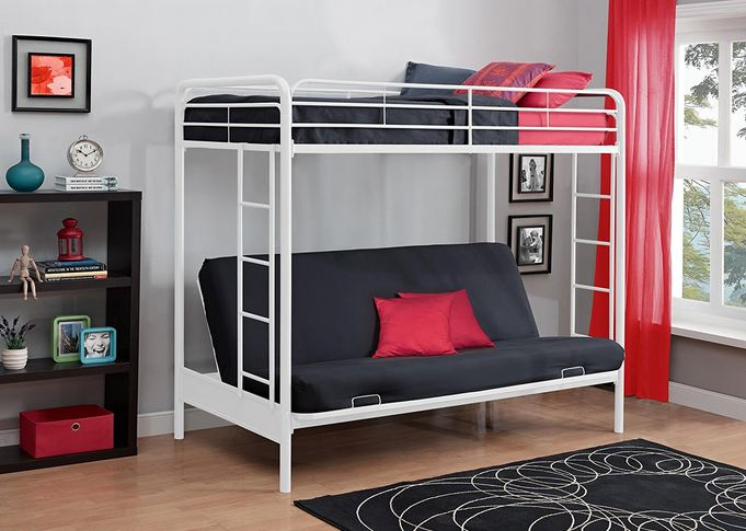 DHP Twin Over Futon Metal Bunk Bed 2