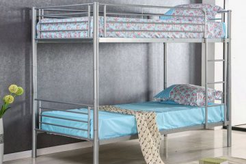 Merax Solid Metal Twin Over Twin Bunk Bed1