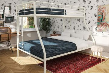 REVIEW-Sturdy-Kids-Sturdy-Twin-Over-Full-Metal-Bunk-Bed-with-Stairs