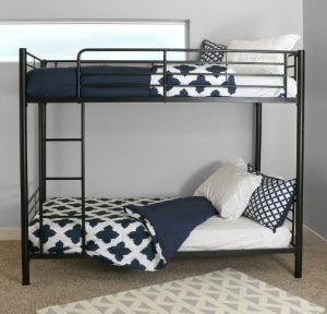 Sturdy Metal Twin-over-Twin Bunk Bed