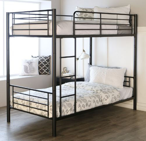 Sturdy Metal Twin-over-Twin Bunk Bed1