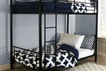 Sturdy Metal Twin-over-Twin Bunk Bed2