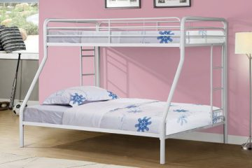 Merax Twin-Over-Full Metal Bunk Bed1