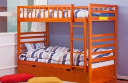 Merax Bunk Bed Twin Over Twin with Trundle Bed1