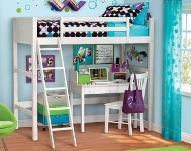 Your Zone Twin Wood Loft Style Bunk Bed3