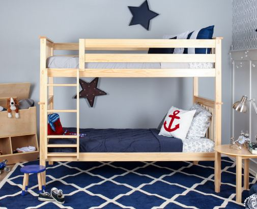 Max & Lily Solid Wood Twin over Twin Bunk Bed1