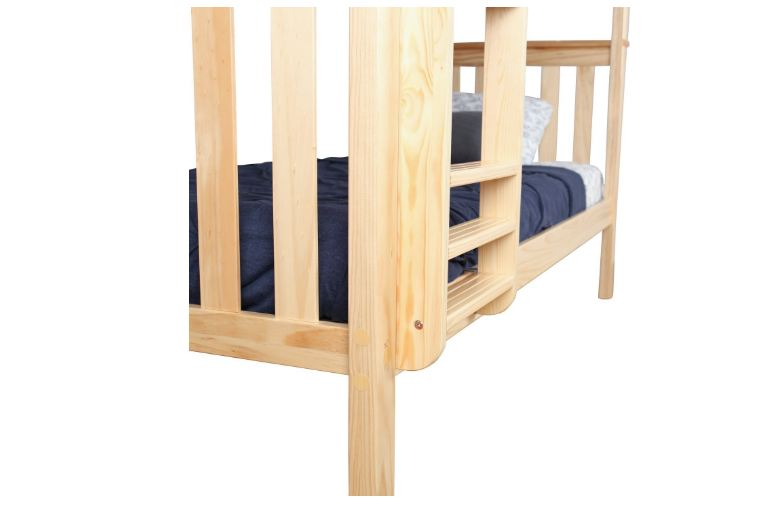 Max & Lily Solid Wood Twin over Twin Bunk Bed2