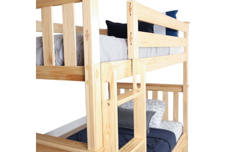 Max & Lily Solid Wood Twin over Twin Bunk Bed3