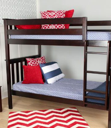 Max & Lily Solid Wood Twin over Twin Bunk Bed4