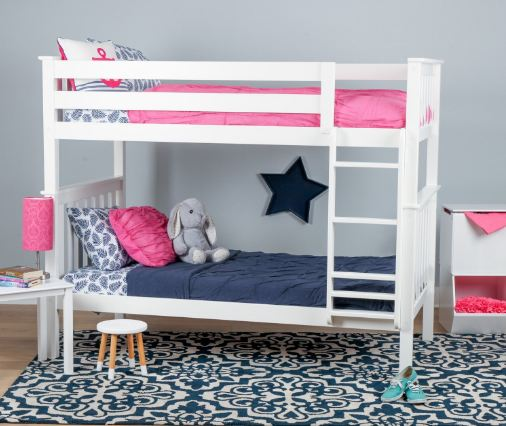 Max & Lily Solid Wood Twin over Twin Bunk Bed7