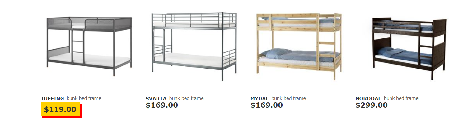 ikea bunk beds for kids variety